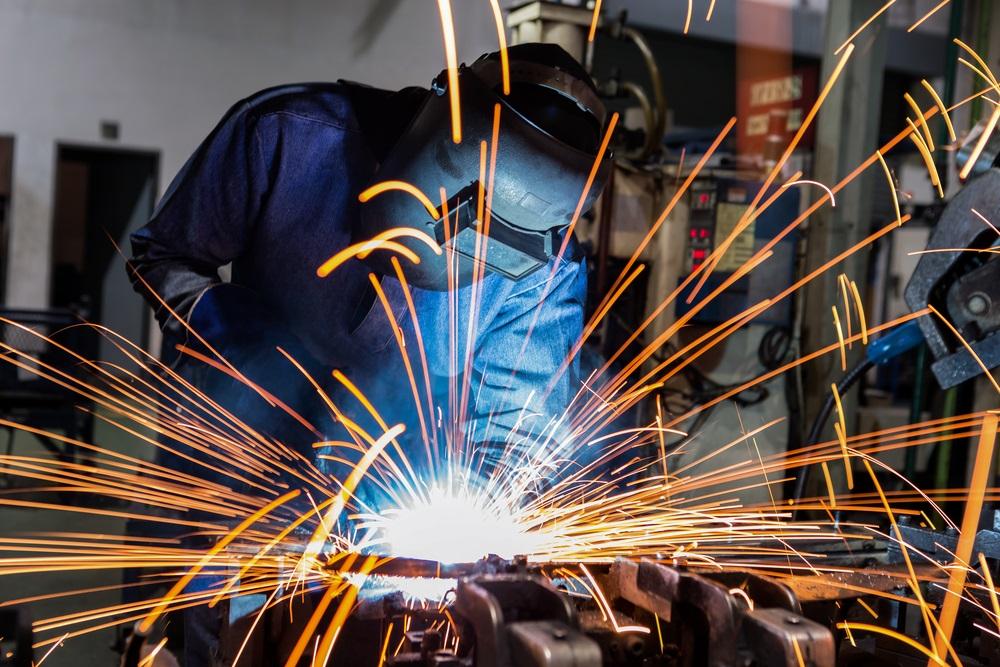 Welder,Is,Welding,Metal,Part,In,Car,Factory